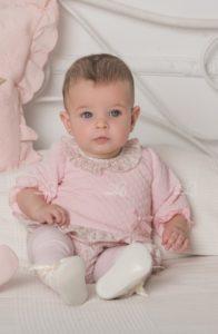 Conjunto Bebé Niña Sudadera & Short Rosa de Dolce Petit