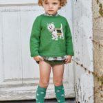 Conjunto Niño Camisa Jersey Perrito & Bombacho Verde de Eva Castro