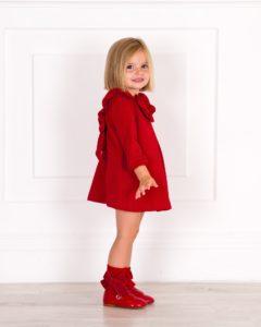 Vestido Evasé Volante & Lazo Espalda Rojo de Nekenia