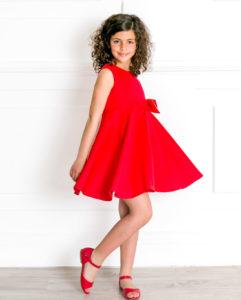 Sandalia Amelia Piel Rojo de Missbaby