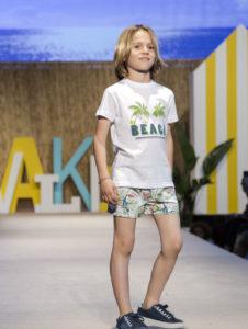 Conjunto Camiseta Niño Palmeras Blanco & Boxer Tropical Verde de José Varón