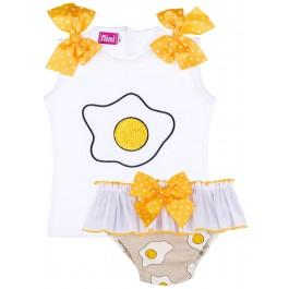 Conjunto Bebé Camiseta & Braguita Volante Huevos