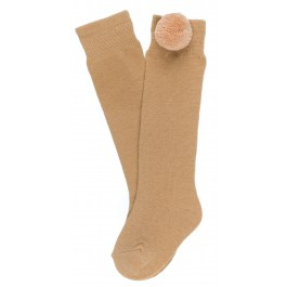 Calcetines Pompón Camel