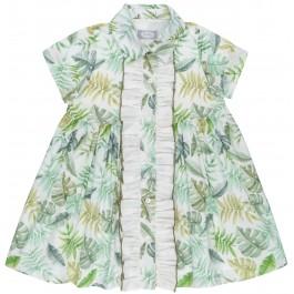 Vestido Niña Camisero Estampado Tropical