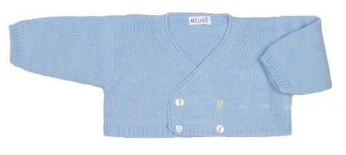 Chaqueta Bebé Punto Azul Celeste