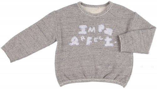 PLAY UP  Sudadera Unisex Imperfect Algodón Orgánico Gris
