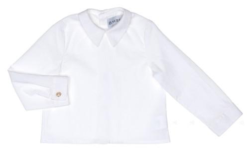 Blusa Cuello Francés Algodón Blanco Roto