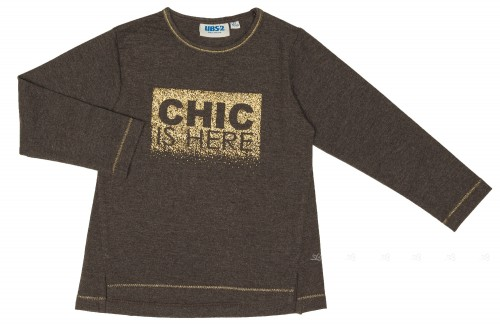 Camiseta Niña Chic Gris & Dorado