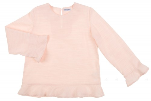 Blusa volantes rosa