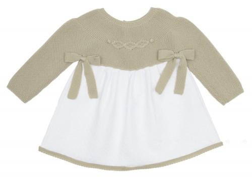 Vestido Combinado Siena & Blanco con lazos