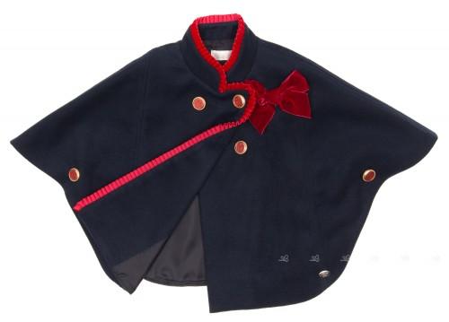 Capa Marino & Rojo Botones