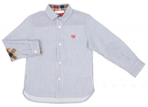 Camisa Niño Rayas Azul & Coderas Cuadros