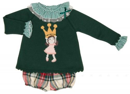 Conjunto Blusa, Short Cuadros & Jersey Colección Bernice