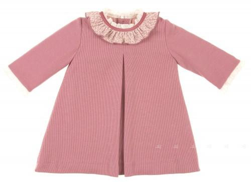 Vestido rosa palo cuello