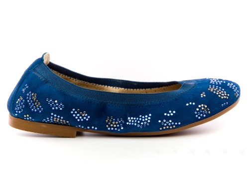 Bailarinas Ante & Cristales Azul