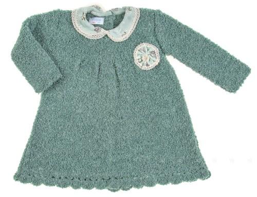 Vestido punto buclé verde