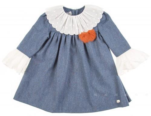 Vestido Cheviot Pompones
