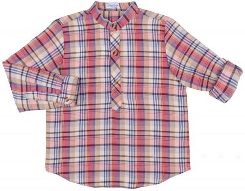 Ancar Camisa Niño Algodón Cuadros Burdeos & Marino