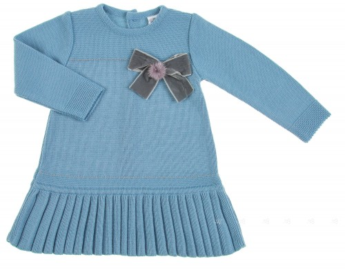 Vestido Punto Azul Colección Melocotón