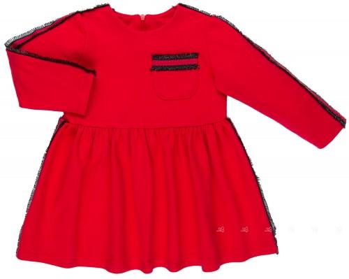 Mon Petit Bonbon Vestido Niña Punto Rojo & Franja Rayas Lurex Negro