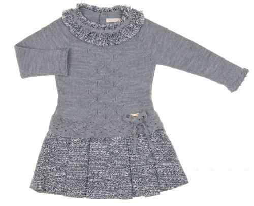 Vestido Punto Gris & Falda Tweed Tablas