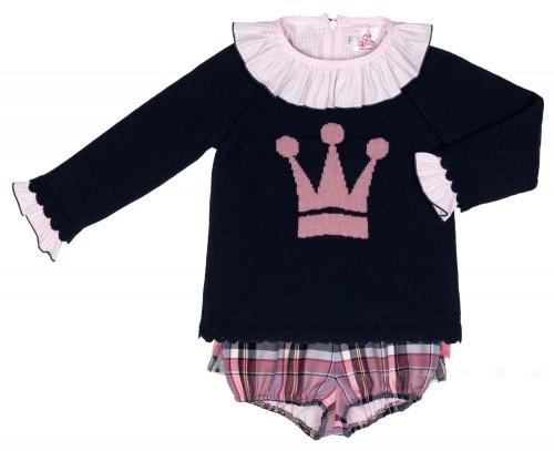 Conjunto Niña Jersey Blusa & Bombacho Colección Dixie