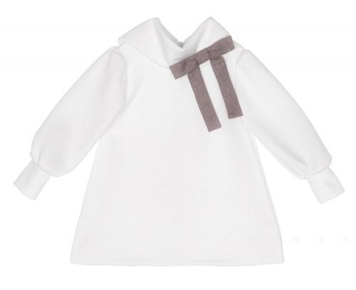Vestido Neopreno Blanco & Lacito Chocolate