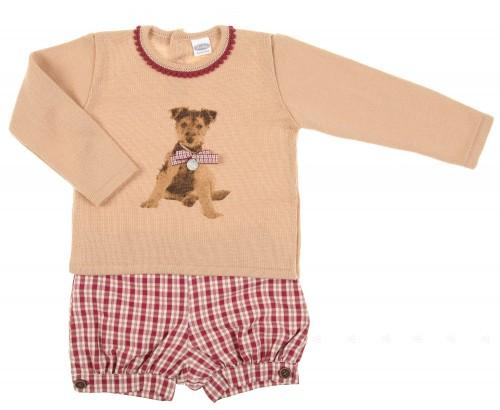 Conjunto jersey & short perritos