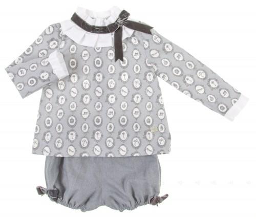 Conjunto blusa & short gris