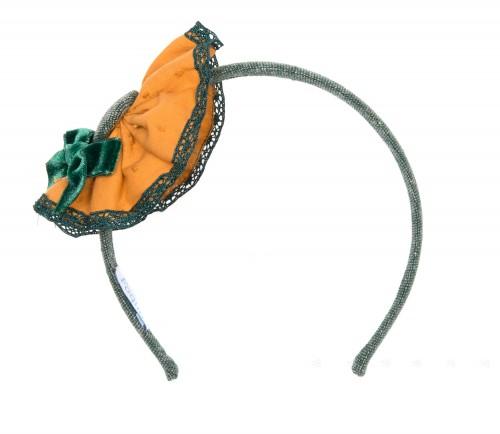 Diadema Tweed Verde & Mostaza Colección Irlanda