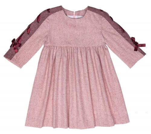 Vestido Mia Rosa & Granate con Lazos