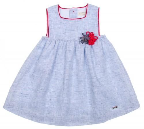 Vestido Azul & Rojo Flores