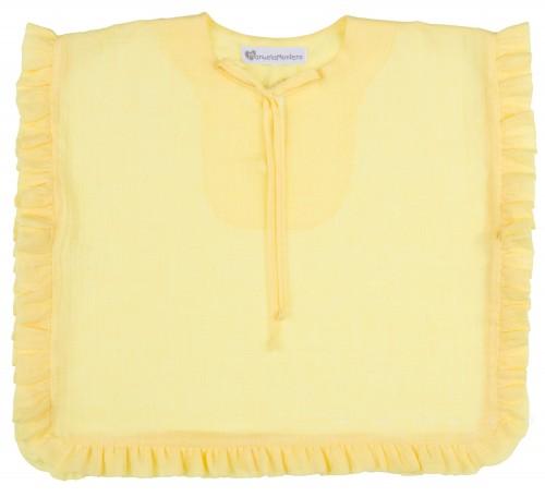 Vestido Poncho Baño Volantitos Amarillo