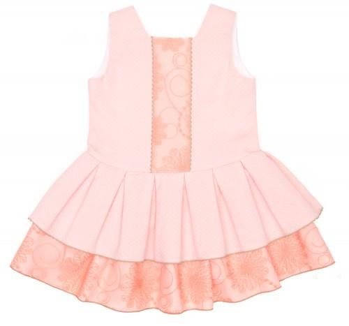 Vestido Acuarela Rosa Pastel & Volantes