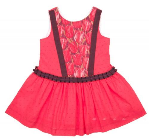 Vestido Plumeti & Tulipanes Rojo