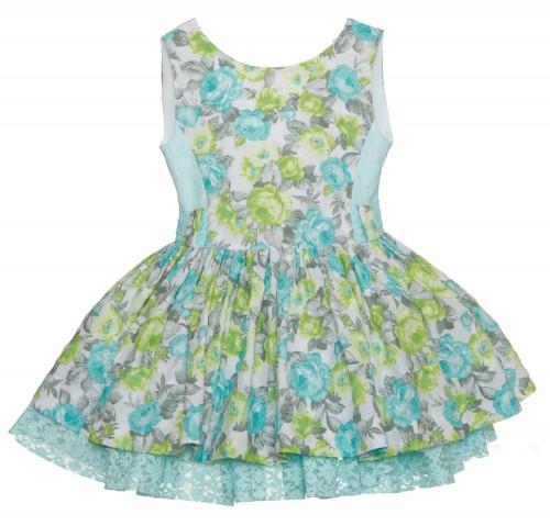 Vestido floral verde agua, Ballet Kauli compra online