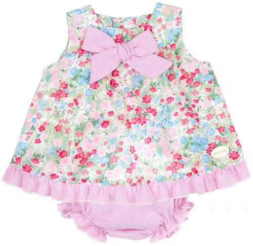 Conjunto Bebé Niña 2 Piezas Floral & Rayas Rosa
