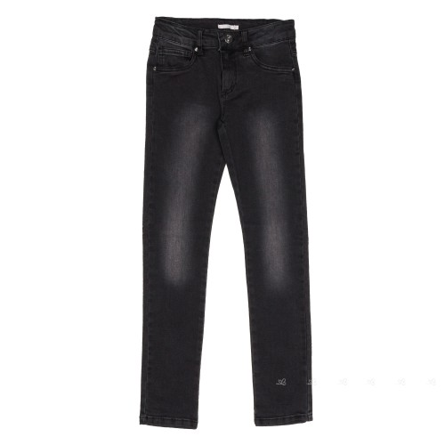 Jeans Corte Slim Gris Oscuro