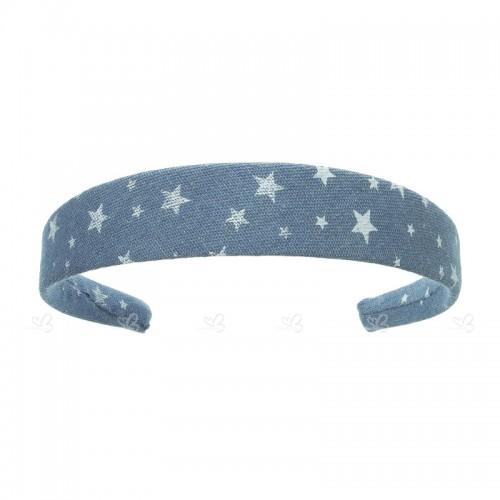 Diadema Forrada Denim & Estrellas