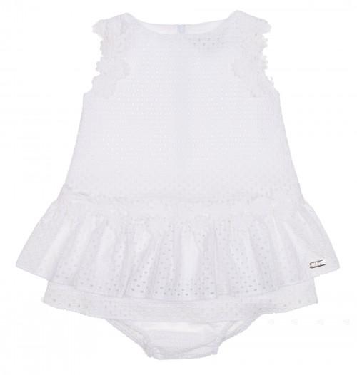 Conjunto Vestido & Braguita Bordado Blanco