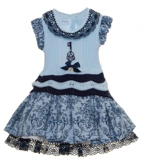 Vestido Punto falda vuelo lino Colección Ángeles