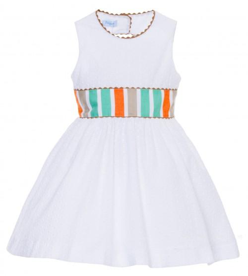 Foque verano 2015 vestido blanco bordado espalda
