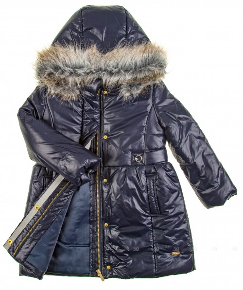 Pili carrera abrigo acolchado marino