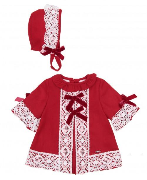 Conjunto Vestido & Capota Rojo