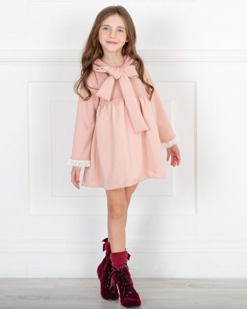Missbaby Vestido Gala Rosa con Lazada Inglesa Cuello