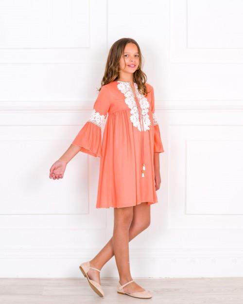 Outfit Vestido Colección Marfil Coral