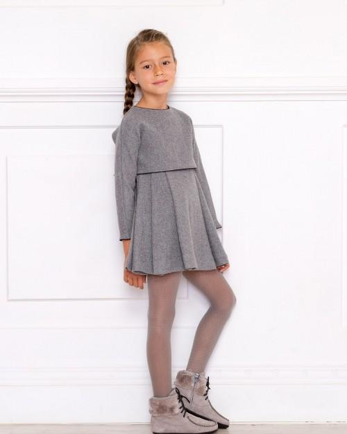 Outfit Vestido Lola Gris