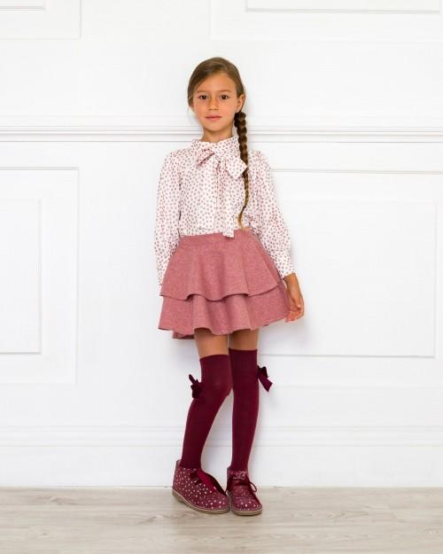 Outfit Blusa Anna & Falda Isabella Rosa