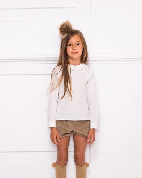Conjunto Camisa Cuello Francés & Short Beige