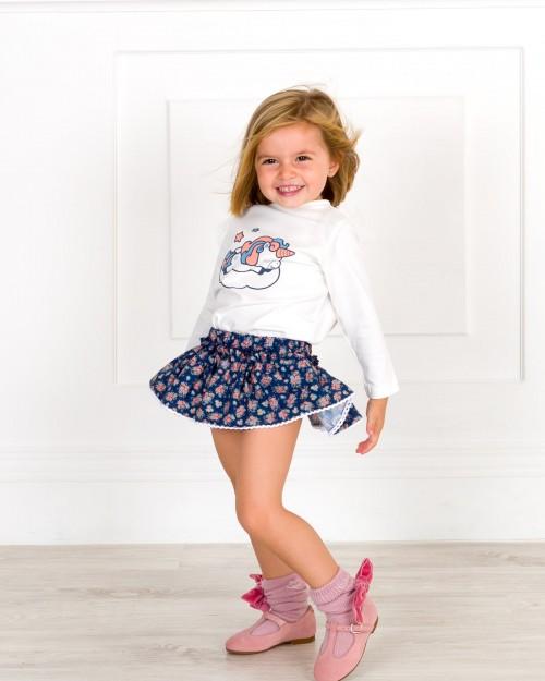 Outfit Niña Conjunto Unicornio & Calzas Rosa Palo